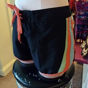 Raya Sun Black Orange Board Shorts Swim Shorts